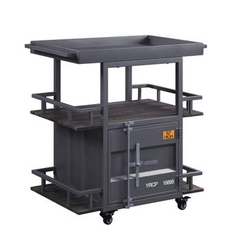 ACME 77909 Cargo Serving Cart, Gunmetal