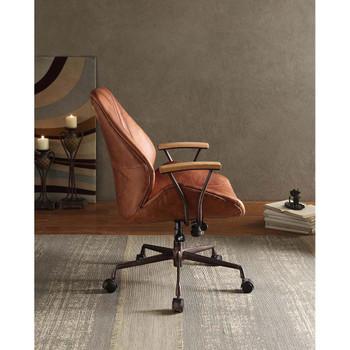ACME 92413 Hamilton Executive Office Chair, Cocoa Top Grain Leather