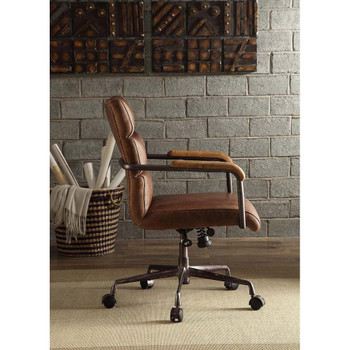 ACME 92414 Harith Executive Office Chair, Retro Brown Top Grain Leather