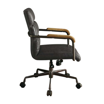 ACME 92415 Harith Executive Office Chair, Antique Slate Top Grain Leather