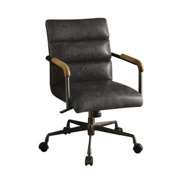 ACME Harith Executive Office Chair, Antique Slate Top Grain Leather
