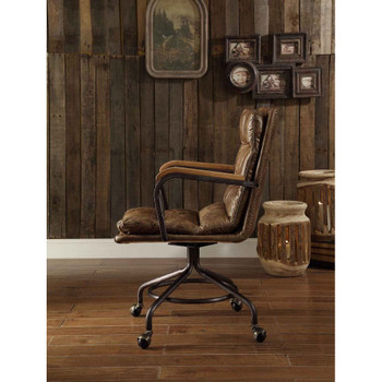 ACME 92416 Harith Executive Office Chair, Vintage Whiskey Top Grain Leather