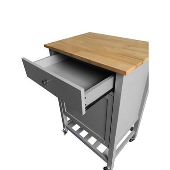 ACME 98300 Hoogzen Kitchen Cart, Natural & Gray