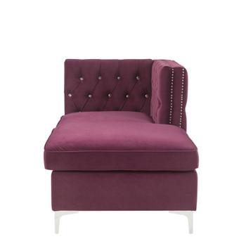 ACME Jaszira Modular - Chaise, Burgundy Velvet