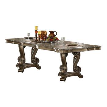 ACME Ragenardus Dining Table w/Double Pedestal, Vintage Oak (1Set/2Ctn)