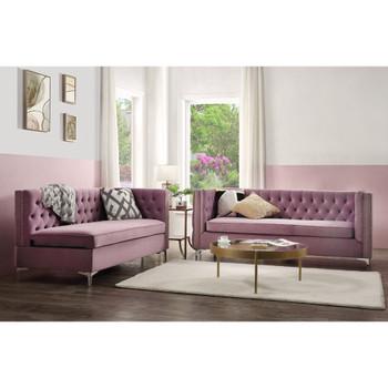 ACME 55500 Rhett Sectional Sofa, Purple Velvet