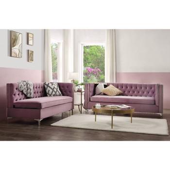 ACME Rhett Sectional Sofa, Purple Velvet
