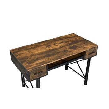 ACME 92795 Settea Computer Desk, Weathered Oak & Black Finish