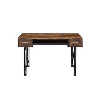 ACME Settea Computer Desk, Weathered Oak & Black Finish