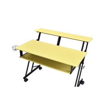 ACME 92904 Suitor Music Recording Studio Desk, Yellow & Black