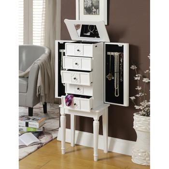 ACME 97167 Tammy Jewelry Armoire, White