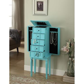 ACME 97170 Tammy Jewelry Armoire, Light Blue