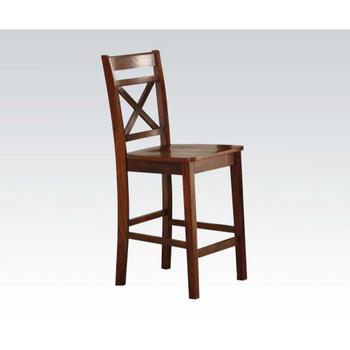ACME Tartys Counter Height Chair (Set-2), Cherry