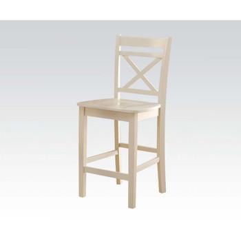 ACME Tartys Counter Height Chair (Set-2), Cream