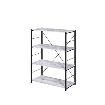 ACME 92774 Tesadea Bookshelf, Antique White & Black Finish
