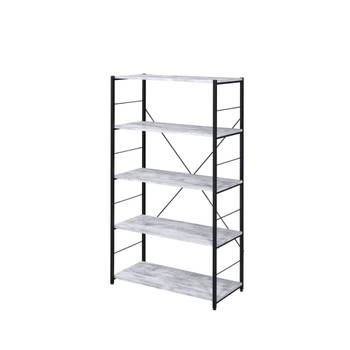 ACME 92777 Tesadea Bookshelf, Antique White & Black Finish