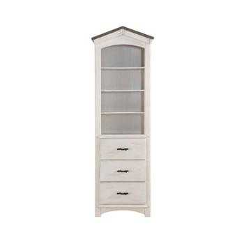 ACME Tree House Bookcase, Weathered White & Washed Gray