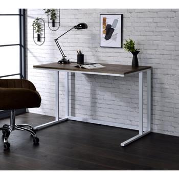 ACME 93094 Tyrese Built-in USB Port Writing Desk, Walnut & White Finish
