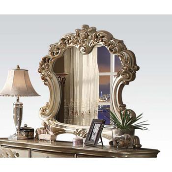 ACME Vendome Mirror, Gold Patina & Bone