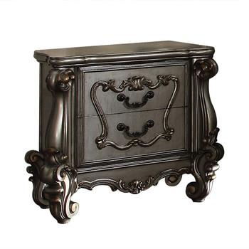 ACME Versailles Nightstand, Antique Platinum