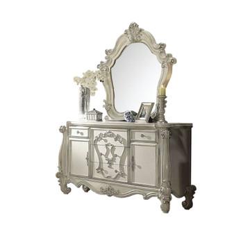 ACME 21134 Versailles Mirror, Bone White