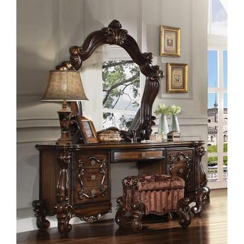 ACME 21107 Versailles Vanity Desk, Cherry Oak