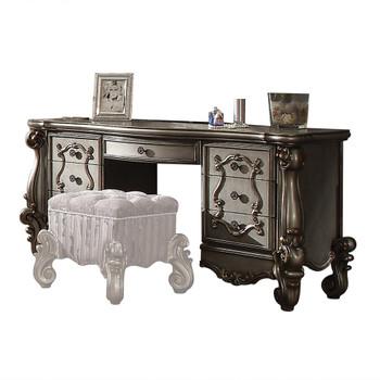 ACME Versailles Vanity Desk, Antique Platinum