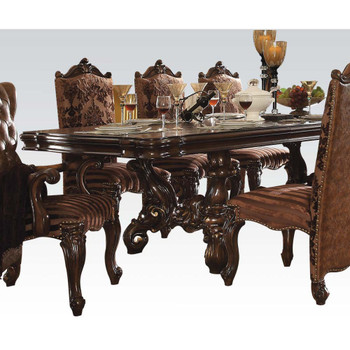 ACME Versailles Dining Table, Cherry Oak (1Set/2Ctn)