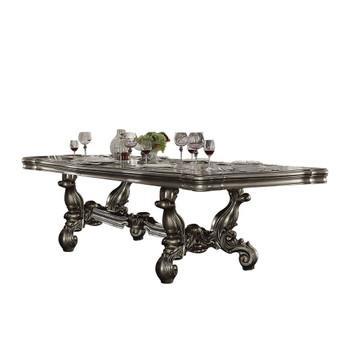 "ACME Versailles Dining Table (120""L), Antique Platinum (1Set/2Ctn)"