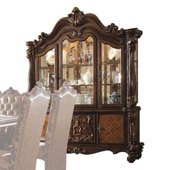 ACME Versailles Hutch & Buffet, Cherry Oak (1Set/2Ctn)