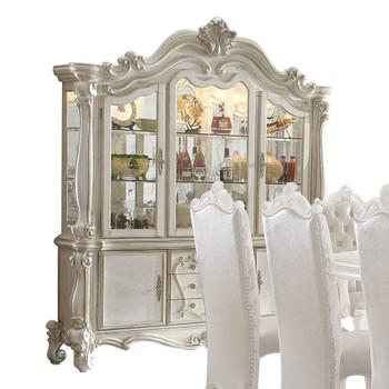 ACME Versailles Hutch & Buffet, Bone White (1Set/2Ctn)