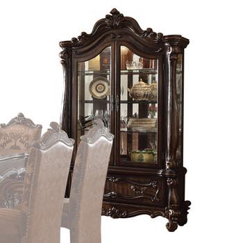 ACME Versailles Curio Cabinet, Cherry Oak (1Set/2Ctn)