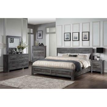 ACME 27320Q Vidalia Queen Bed, Rustic Gray Oak