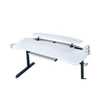 ACME 93134 Vildre Gaming Table with USB Port, Black & White Finish