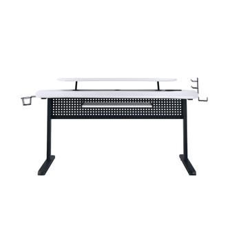 ACME Vildre Gaming Table w/USB Port, Black & White Finish