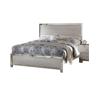 ACME Voeville II Eastern King Bed, Platinum (1Set/3Ctn)