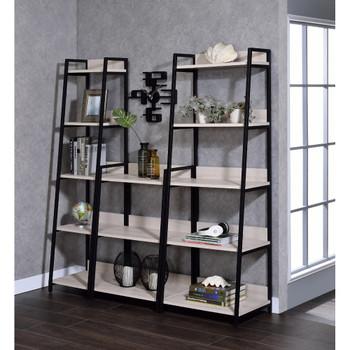 "ACME Wendral Bookshelf (5-Tier, 16""L), Natural & Black"