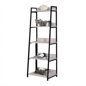 "ACME Wendral Bookshelf (5-Tier, 23""L), Natural & Black"