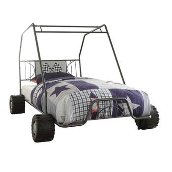 ACME Xander Twin Bed, Gunmetal Go Kart (1Set/2Ctn)