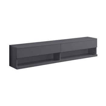 ACME 91347 Ximena Floating TV Stand, LED & Gray Finish