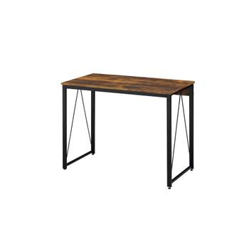 ACME 92600 Zaidin Writing Desk, Weathered Oak & Black Finish