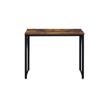 ACME Zaidin Writing Desk, Weathered Oak & Black Finish