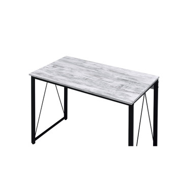 ACME 92604 Zaidin Writing Desk, Antique White & Black Finish