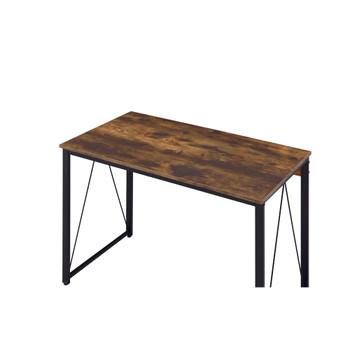 ACME 92605 Zaidin Writing Desk, Weathered Oak & Black Finish