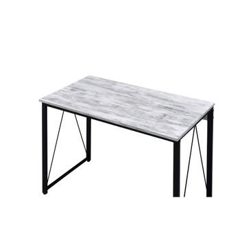 ACME 92609 Zaidin Writing Desk, Antique White & Black Finish