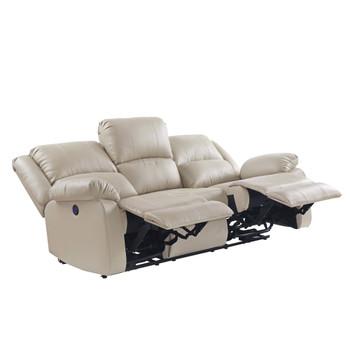 ACME 54610 Zuriel Power Motion Sofa, Beige PU