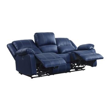 ACME 54615 Zuriel Power Motion Sofa, Blue PU