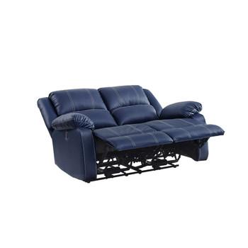 ACME 54616 Zuriel Power Motion Loveseat, Blue PU