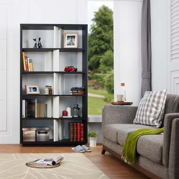 Furniture of America HFW-1557C1 Mallory Contemporary 10-Shelf Bookcase
