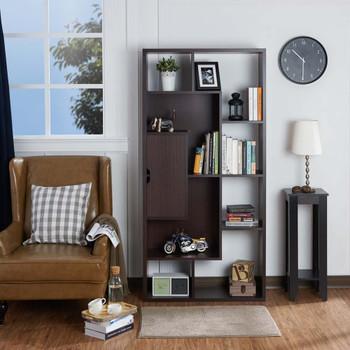 Furniture of America HFW-1685C4 Padma Contemporary 12-Shelf Bookcase